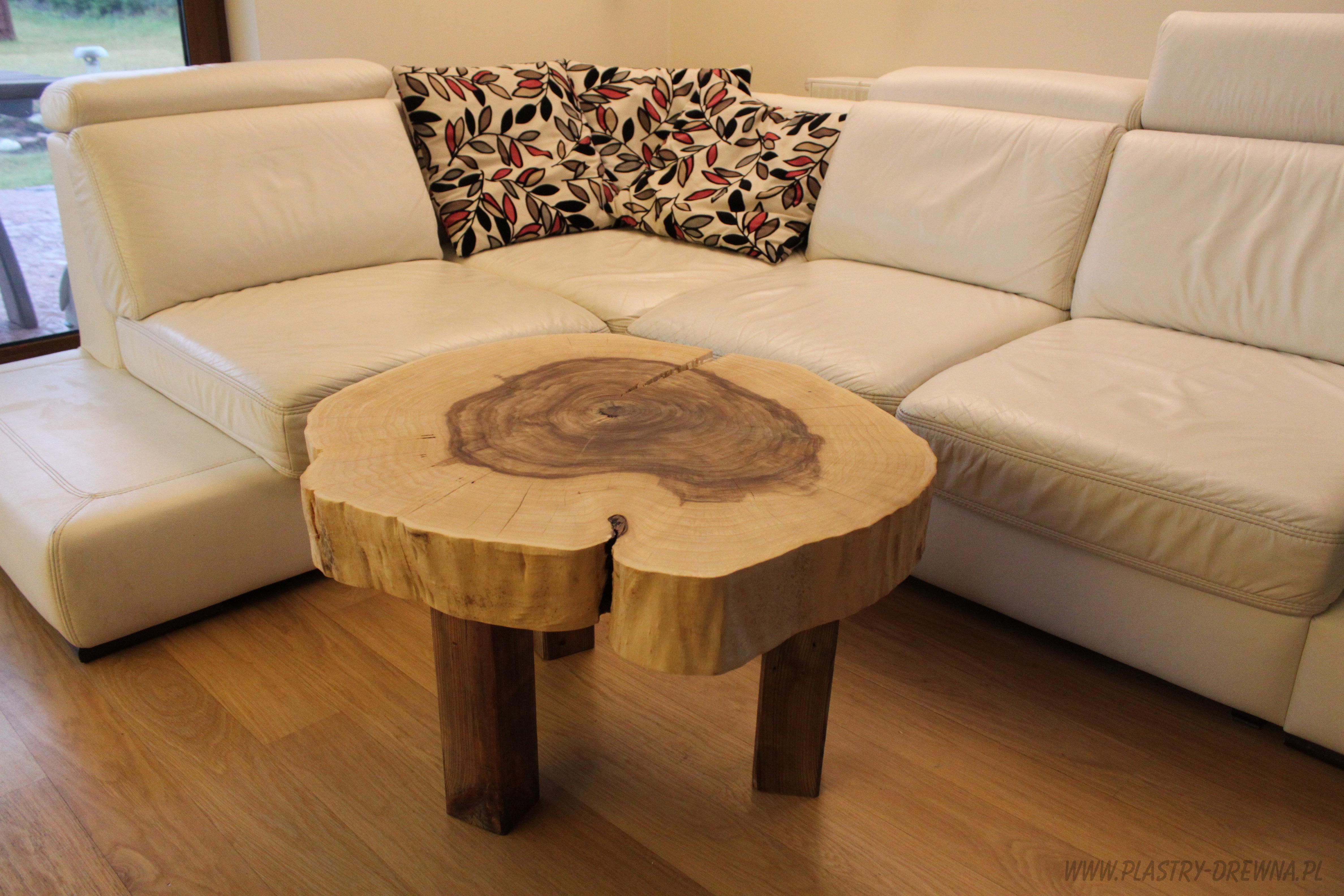 Stolik Kawowy Z Pnia Lub Plastra Drzewa