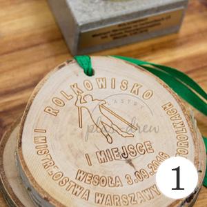 medale z drewna