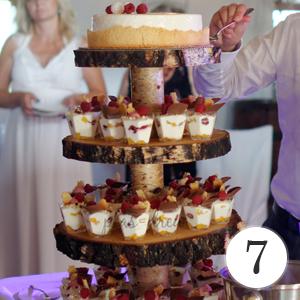 podstawka drewniana pod tort