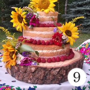 drewniana podstawka pod tort