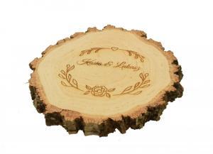 Drewniana podstawka pod obrączki