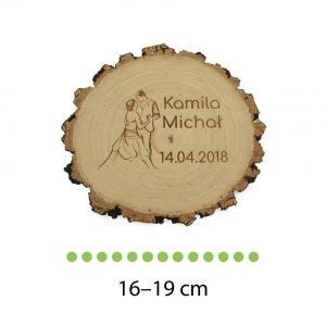 Drewniana podstawka pod obrączki ślubne