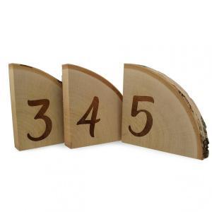 Drewniane numerki na stoły